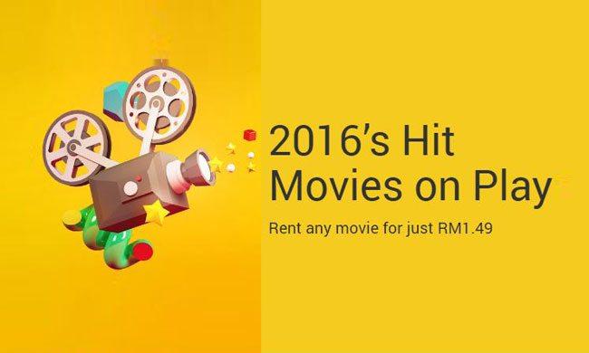 Filem-Filem Terhangat 2016 Boleh Disewa Di Google Play Movies Pada Harga RM 1.49