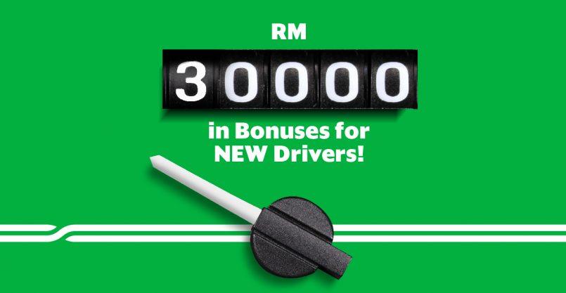 Grab Menawarkan Sejumlah Bonus RM 30,000 Untuk Pemandu Baru