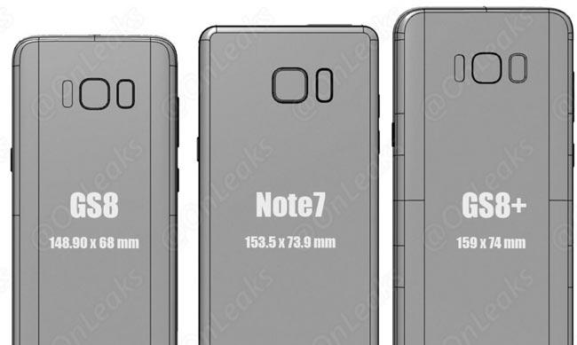 Perbezaan Saiz Di Antara Samsung Galaxy S8 Dan S8+ Dengan Peranti Utama Lain Diperlihatkan