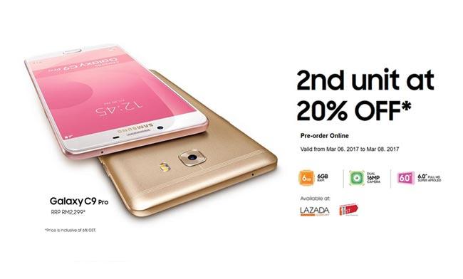 Samsung Malaysia Menawarkan Pembelian Galaxy C9 Pro Kedua Dengan Potongan Harga 20%