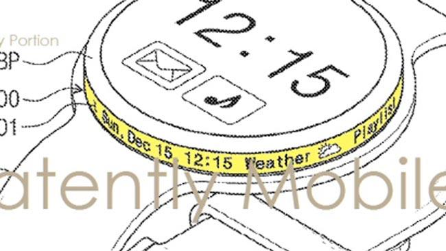 Samsung Mempatenkan Jam Tangan Pintar Dengan Skrin Sisi