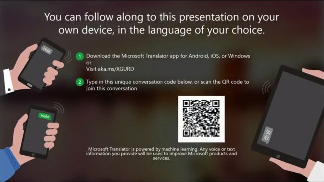 Microsoft Presentation Translator