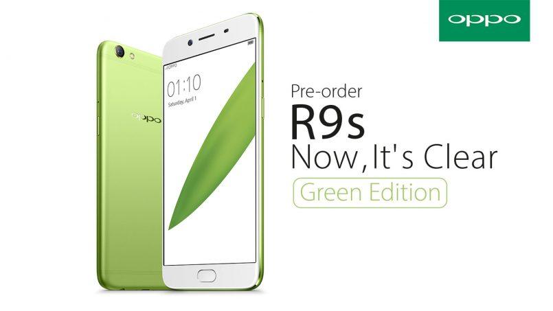 Pra-Tempahan Oppo R9S Green Edition Akan Dibuka Pada 11 Ogos