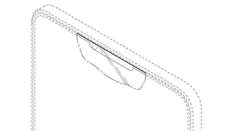 Samsung Mempatenkan Rekaan Skrin Dengan Tetingkap Kecil Untuk Kamera Pada Bahagian Hadapan