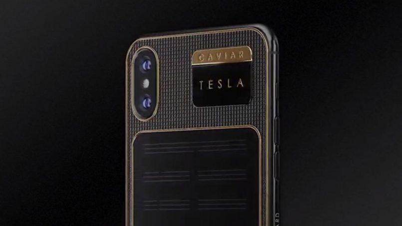 Caviar iPhone X Tesla Dilancarkan Dan Dilengkapi Panel Solar Terbina