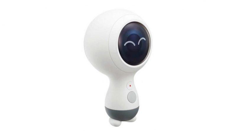 Samsung Mempatenkan Kamera Gear 360 Dengan Rekaan Seperti Robot