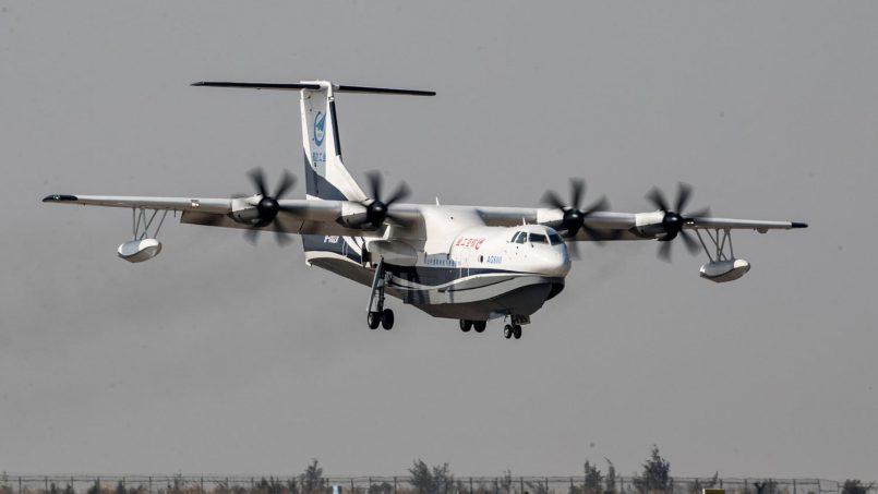 Pesawat Amfibia Terbesar Di Dunia Berjaya Melakukan Penerbangan Pertama
