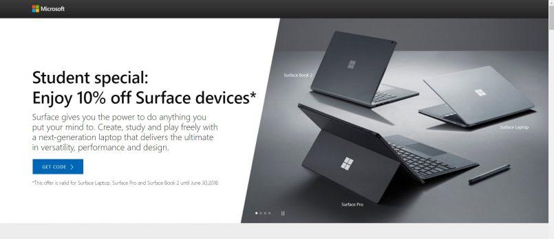 Pelajar Kolej Dan Universiti Kini Boleh Mendapatkan Diskaun 10 Peratus Untuk Pembelian Peranti Microsoft Surface