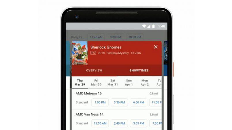 Google Search Kini Memudahkan Carian Masa Tayangan Filem Dan Lokasi Panggung Wayang