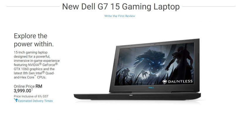 Siri Laptop Gaming Dell G7 Dengan Pemproses Intel Coffee Lake Kini Berada Di Pasaran Malaysia – Bermula Dari RM3999