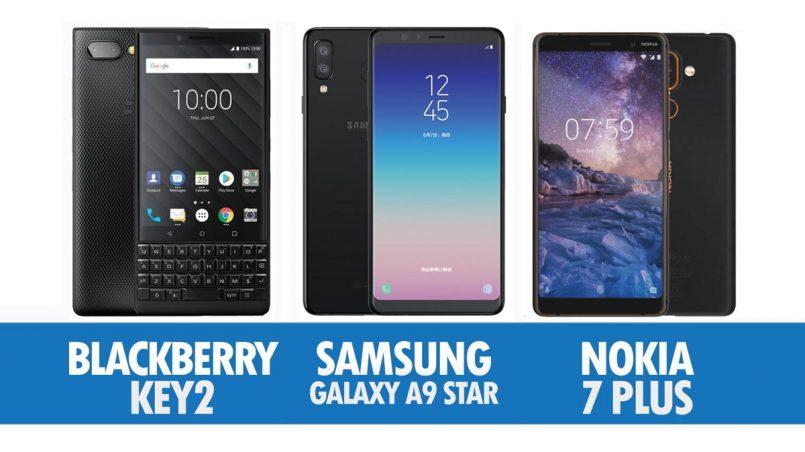 Perbandingan Blackberry Key2, Samsung Galaxy A9 Star Dan Nokia 7 Plus