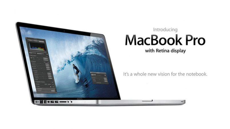 MacBook Pro 2012 15″ Berskrin Retina Kini Disenaraikan Sebagai Peranti Vintaj