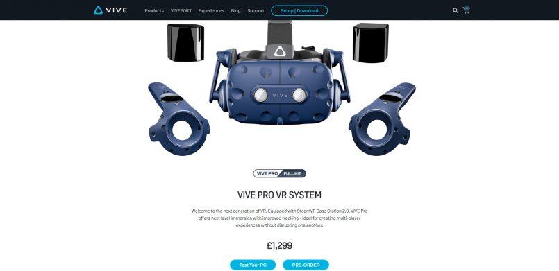 HTC Memperkenalkan Set Peranti Realiti Maya HTC Vive Pro Full Kit – Hadir Dengan Stesen Pangkalan Dengan Sokongan SteamVR 2.0