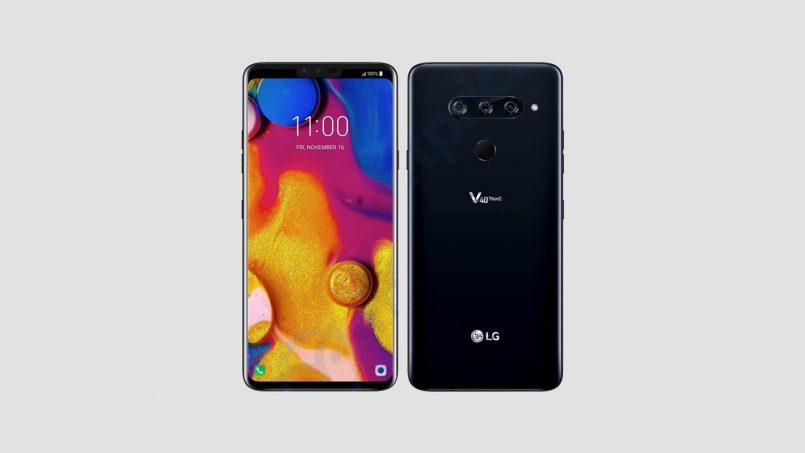Rekaan LG V40 Dengan Takuk Dan Tri-Kamera Tertiris