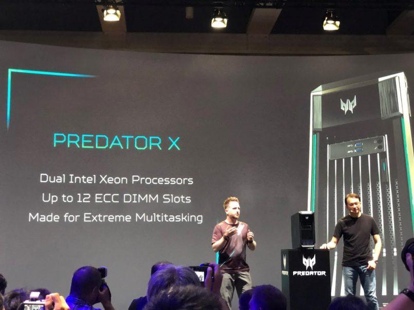 Acer Predator X Diperlihatkan – Hadir Dengan Sokongan Untuk Dua CPU Intel Xeon Dan 12 Keping Memori ECC