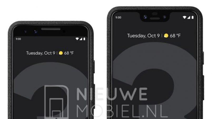 Imej Pengolokan Rasmi Google Pixel 3 Dan Pixel 3 XL Memperlihatkan Dua Rekaan Berbeza