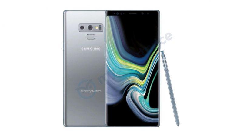 Samsung Galaxy Note 9 Warna Perak Tertiris