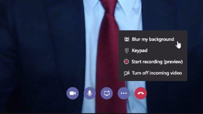 Microsoft Blur Background