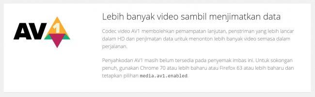 YouTube AV1