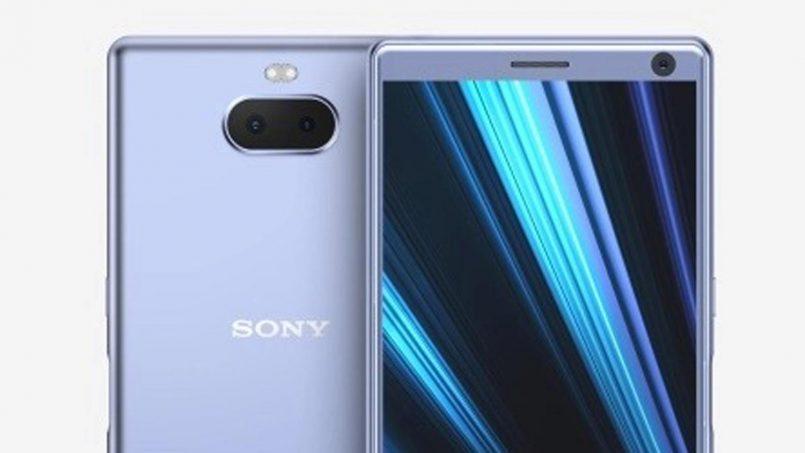Imej Pengolokan Sony Xperia XA3 Tertiris Dengan Pengimbas Cap Jari Sisi