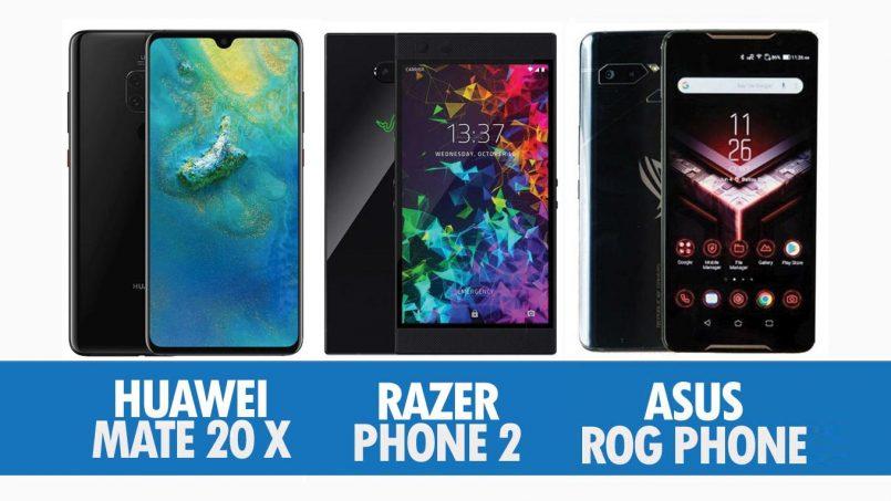 Perbandingan Huawei Mate 20 X, Razer Phone 2 Dan Asus ROG Phone