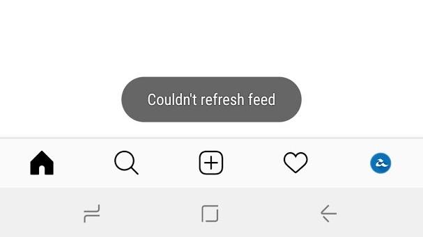 Instagram Feed Down
