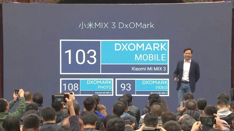 Xiaomi Mi Mix 3 DxOMark