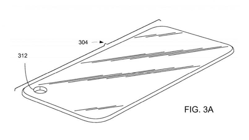 Apple Turut Mempatenkan Rekaan Skrin Dengan Lubang Untuk Kamera Hadapan