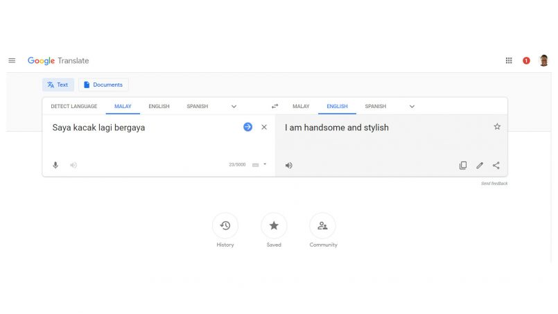 Google Translate Untuk Web Dikemaskini Dengan Rekaan Material Design Dan Responsif