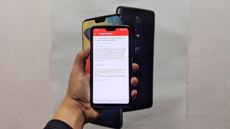 Oxygen Updater Untuk OnePlus Kini Tidak Boleh Digunakan Lagi
