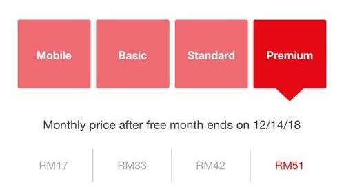 Netflix RM17 Sebulan