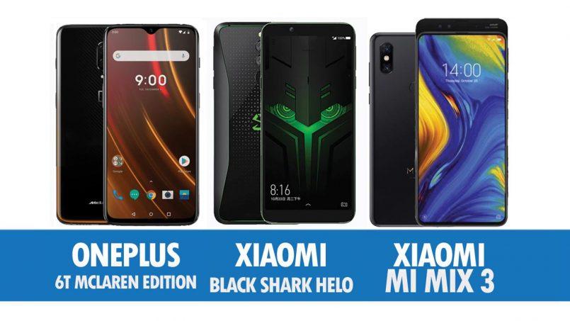 Perbandingan OnePlus 6T McLaren Edition, Xiaomi Black Shark Helo Dan Xiaomi Mi MIX 3