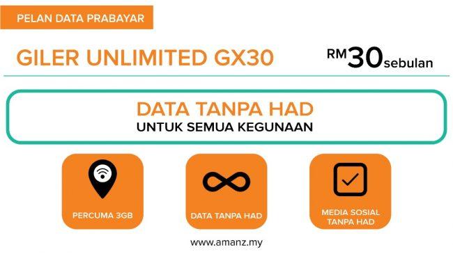 Perbandingan Pelan Data Prabayar Bulanan Daripada U Mobile Digi Tunetalk Dan Celcom Pada Harga Rm30 Amanz