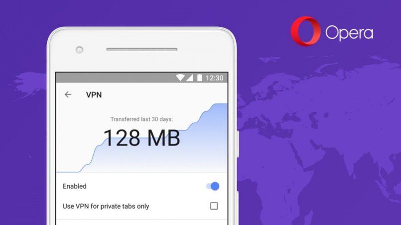 Pelayar Web Opera Browser Kini Hadir Dengan Sokongan VPN