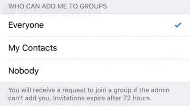 WhatsApp Kelak Akan Menghalang Anda Dari Dimasukkan Ke Dalam Group Tanpa Kebenaran
