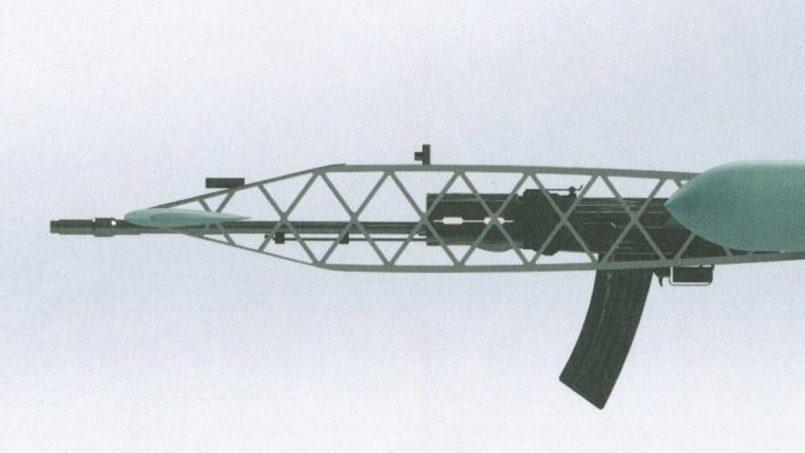 Firma Rusia Mempatenkan Dron Dengan AK-47 Terbina