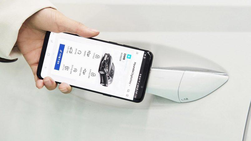 Hyundai Memperlihatkan Kunci Kereta Digital Menggunakan Telefon Pintar