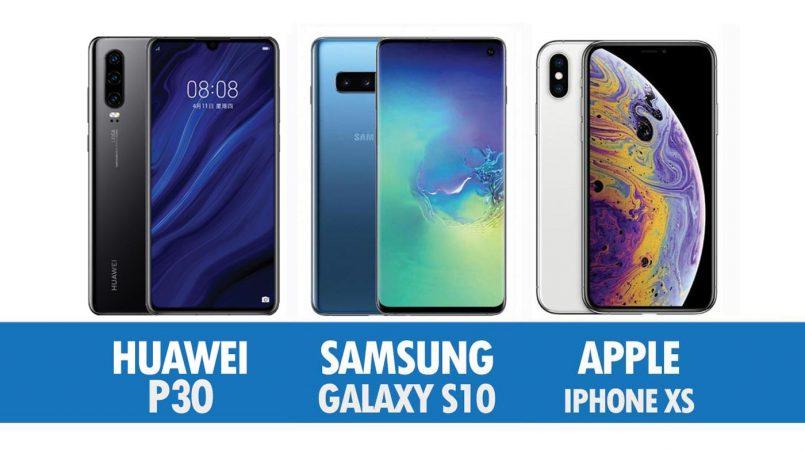 Perbandingan Huawei P30, Samsung Galaxy S10 Dan Apple iPhone XS