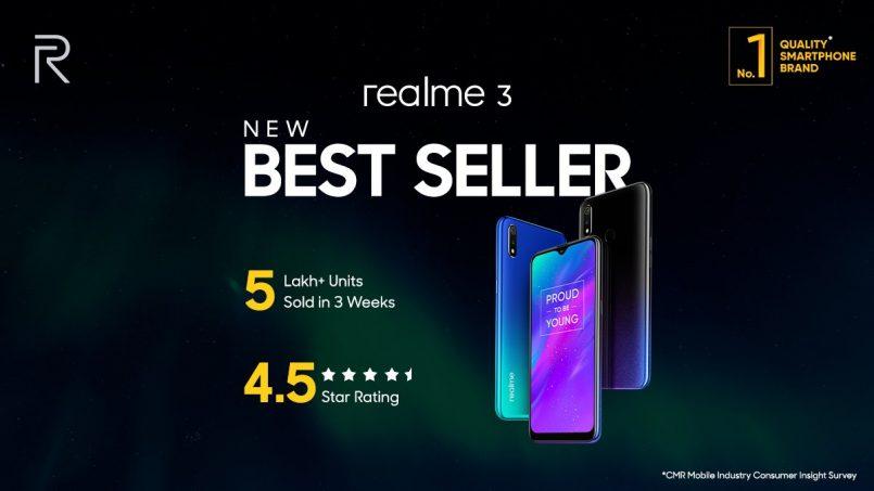 Lebih 500,000 Unit Realme 3 Telah Terjual Dalam Masa Tiga Minggu