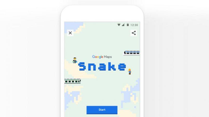 (April Fool) Google Maps Kini Menyokong Permua Klasik Snake