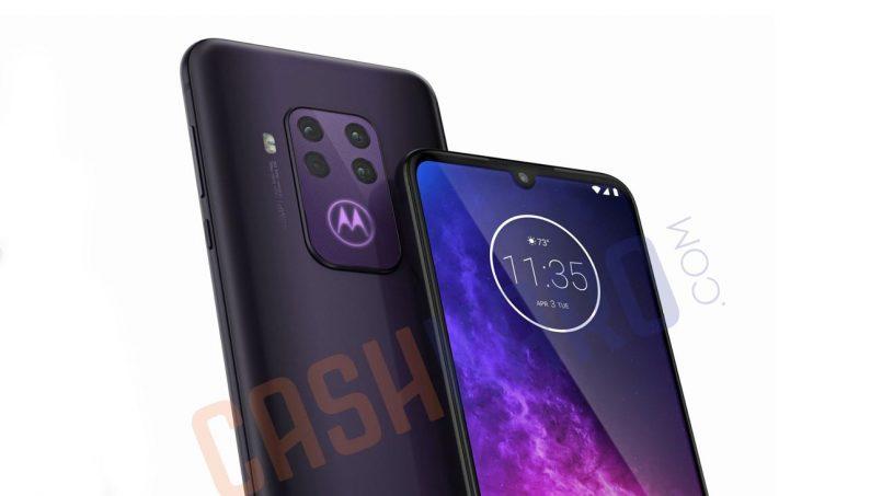 Imej Pengolokan Motorola One Pro Tertiris Menunjukkan Sistem Empat Kamera Utama