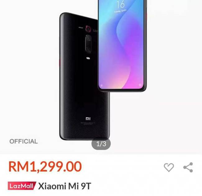 Xiaomi Mi 9T Lazada