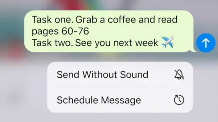 Telegram Messenger Jadual Mesej