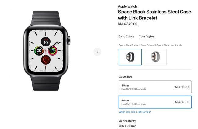 Harga Apple Watch Series 3 & 5 Versi Selular Di Malaysia Mencecah RM4,849