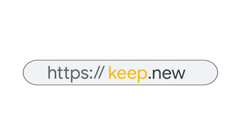 """Anda Kini Boleh Layari Ke """"keep.new"""" Untuk Mengakses Google Keep Dengan Pantas"""