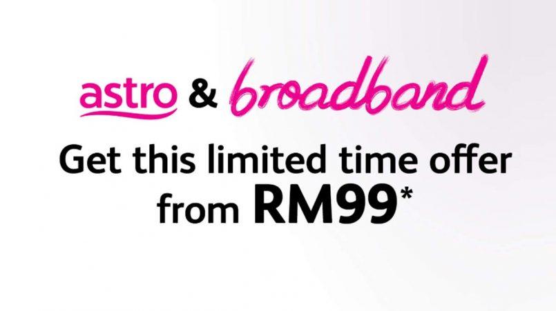 Maxis Dan Astro Menawarkan Berkas RM99 Sebulan Untuk Internet Jalur Lebar Dan TV Satelit