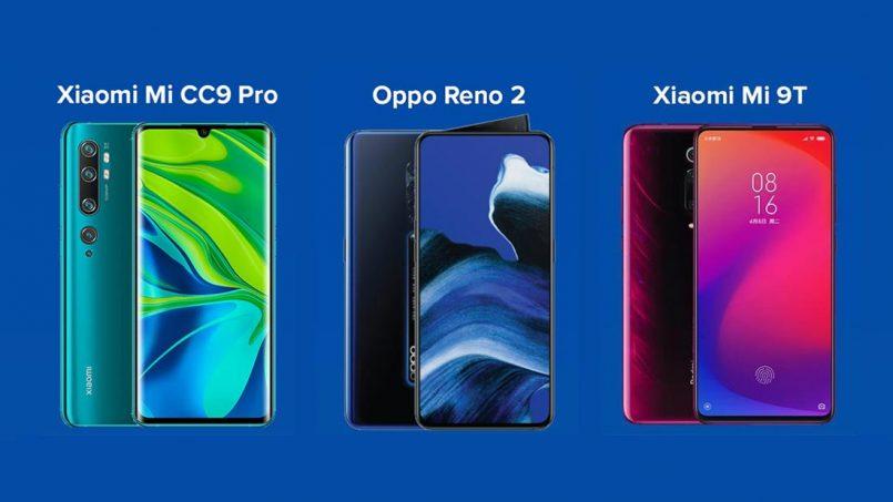 Perbandingan Xiaomi Mi CC9 Pro, Oppo Reno 2 Dan Xiaomi Mi 9T