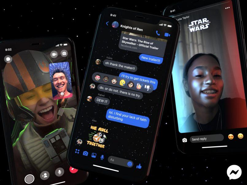 Facebook Messenger Dikemaskini Dengan Tema Star Wars: The Rise of Skywalker