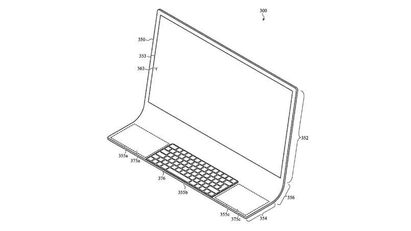Apple Memfailkan Paten Rekaan iMac Dengan Permukaan Kaca Melengkung