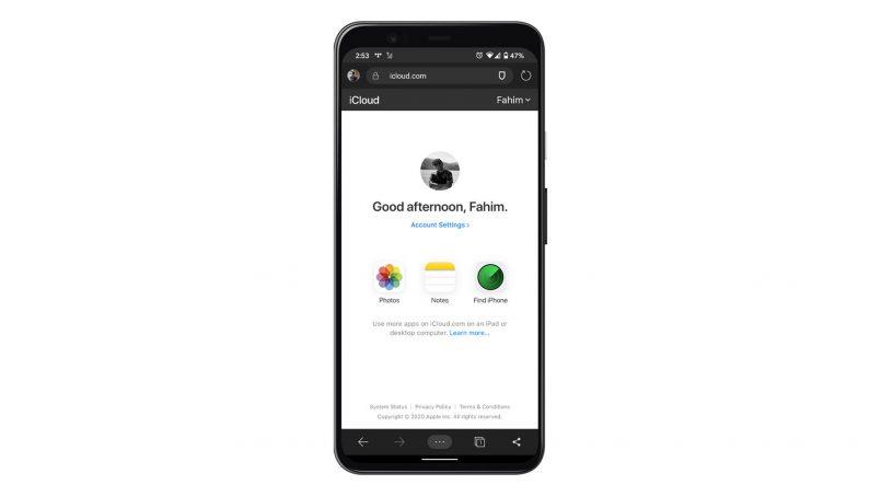 Laman Web iCloud Kini Mesra Dengan Pelayar Web Untuk Diakses Pada Peranti Android